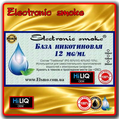 База никотиновая 12 mg/ml HiLiQ Premium