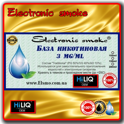 База никотиновая 3 mg/ml HiLiQ Premium